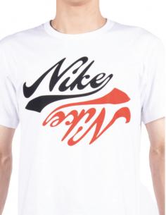 COMME DES GARÇONS BLACK x Nike white t-shirt with bicolor logo - SS21