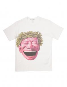 T-shirt blanc COMME DES GARÇONS SHIRT couronne Yue Minjun pour homme - SS21