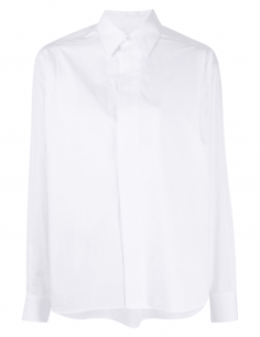 AMI PARIS white oversized shirt with pleats for women - SS21
