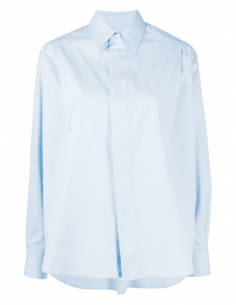 AMI PARIS blue oversized shirt with pleats for women - SS21