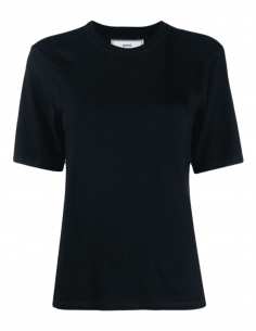 AMI PARIS T-shirt in navy blue cotton and viscose for women - SS21