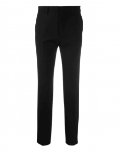Cigarette AMI PARIS pants in wool and black polyester for women - SS21