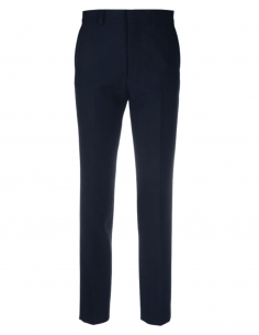 Blue AMI PARIS cigarette pants in wool and polyester for women - SS21