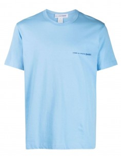 T-shirt COMME DES GARÇONS SHIRT bleu avec logo pour homme - SS21