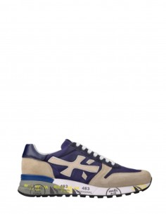 "Beige and blue ""Mick"" PREMIATA sneakers for men - SS21"