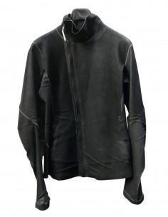 """Blouson stretch """"Imparable"""" ISAAC SELLAM en cuir gris pour homme - SS21"""