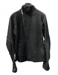 """ISAAC SELLAM """"Imparable"""" stretch jacket in grey leather for men - SS21"""