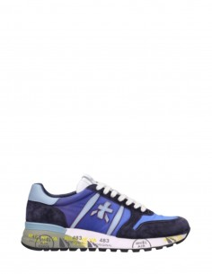 "PREMIATA ""Lander"" sneakers in blue crust and nylon for men - SS21"