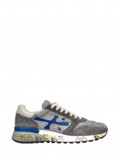 "Grey and blue ""Mick"" sneakers in crust and nylon - SS21"