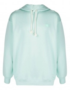Green unisex ACNE STUDIOS hoodie with Ferris Face smiley logo - SS21