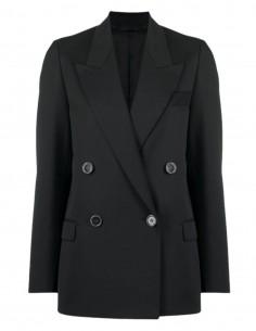 Veste blazer ACNE STUDIOS croisée noire à 4 boutons pour femme  - SS21