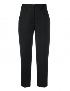Black ACNE STUDIOS straight cropped pants for women - SS21