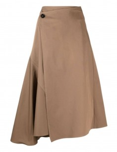 Brown mid-length ACNE STUDIOS trapeze cut skirt with wrap - SS21