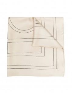 TOTÊME logo monogram scarf in ecru silk for women - SS21