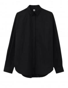 TOTÊME black shirt draped at back for women - SS21