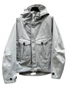 Parka TEN C courte bleu ciel à capuche avec poches pour homme - SS21