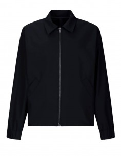 Blue water-repellent HARRIS WHARF jacket with elastic edge for men - SS21