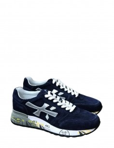 "Blue ""Mick"" PREMIATA perforated sneakers for men - SS21"