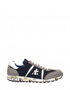 "PREMIATA ""Lucy Var 600"" sneakers in blue nylon and crust for men - SS21"