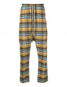 Jogging RICK OWENS écossais bicolor jaune et bleu pour homme - SS21