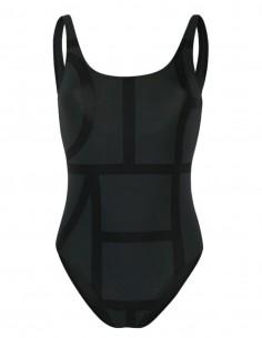Grey TOTÊME 1 piece swimsuit with monogram logo - SS21