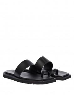 Sandales nu-pied RICK OWENS noires avec semelle crantée pour femme - SS21