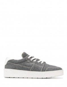 Grey Sneakers Logo Embroidered AMI PARIS