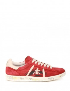 """""""Andy"""" Red Suede Sneakers Premiata White for Man - serie 