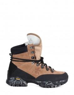 "PREMIATA WHITE beige ""MIDTREK"" boots in beige split leather for woman"
