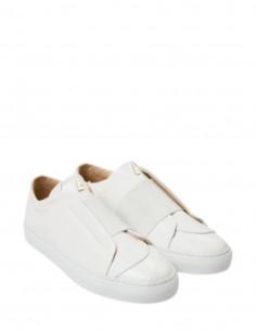 """Baskets blanches """"Toi et moi"""" en cuir à élastique blanc DANIEL ESSA mixte"""