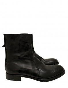 Boots Cuir Noires Zip Arrière 30306