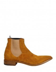 "PREMIATA ""31617"" mustard Chelsea boots in suede"