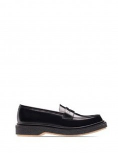 ADIEU Type 5 black loafers in glace leather.