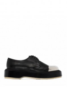 Adieu X Undercover derbies metallic toe leather
