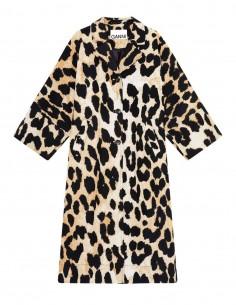 Manteau GANNI oversize imprimé léopard pour femme - SS21