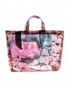 "COMME DES GARÇONS SHIRT pink tote bag ""East-West"" Yue Minjun - SS21"