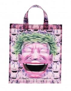 "COMME DES GARÇONS SHIRT pink tote bag ""North-South"" Yue Minjun - SS21"