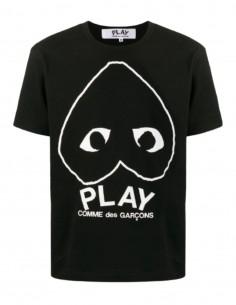 """T-shirt noir """"Az-t114"""" COMME DES GARÇONS Play coeur et logo - SS21"""