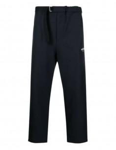 Pantalon noir OAMC taille élastique et poche zippée pour homme - SS21