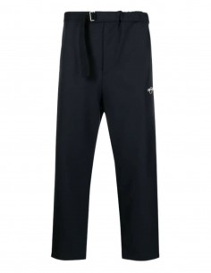 OAMC black pants with elastic waist and zipped pocket for men - SS21