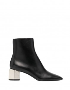 OFF-WHITE black boots with geometric heels in hexnut-shaped metal - SS21