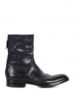 PREMIATA Hi-top black boots in glacé leather with round toe for man
