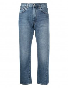 Vintage blue TOTËME cropped jeans for women - SS21