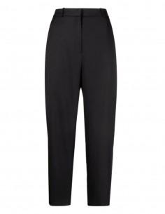 TOTËME signature pants in black viscose for women - SS21