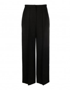 TOTËME wide black pants with pleats for women - SS21