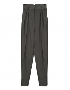 BARBARA BUI grey high waist flared and pleated trousers for women - SS21