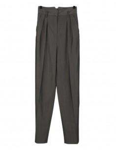 Pantalon flare BARBARA BUI gris taille haute à pinces pour femme - SS21