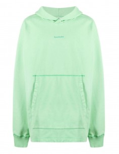 ACNE STUDIOS green hoodie with logo for men - SS21