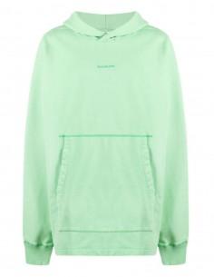 Sweat ACNE STUDIOS à capuche vert avec logo pour homme - SS21