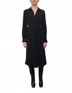 Robe chemise manches longues noire - CO